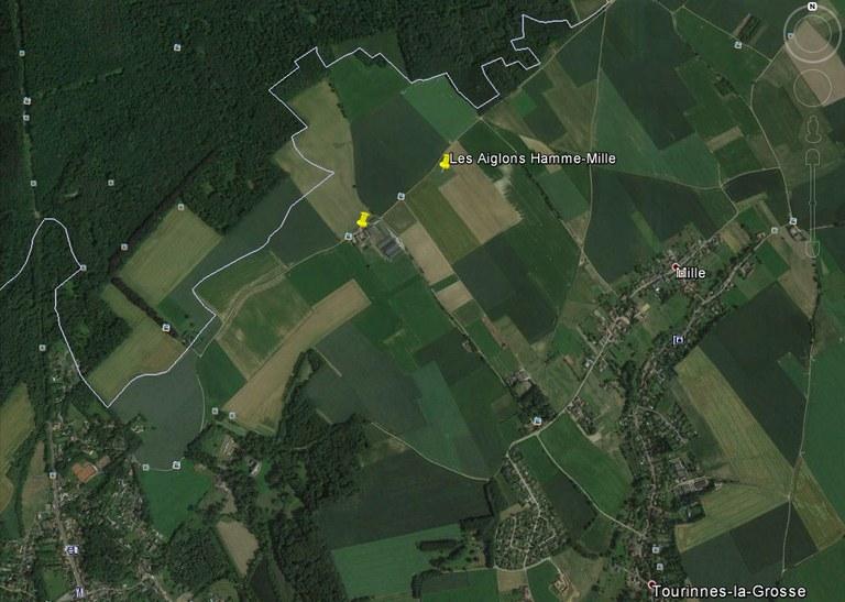 Vue Google Maps du terrain et ses environs